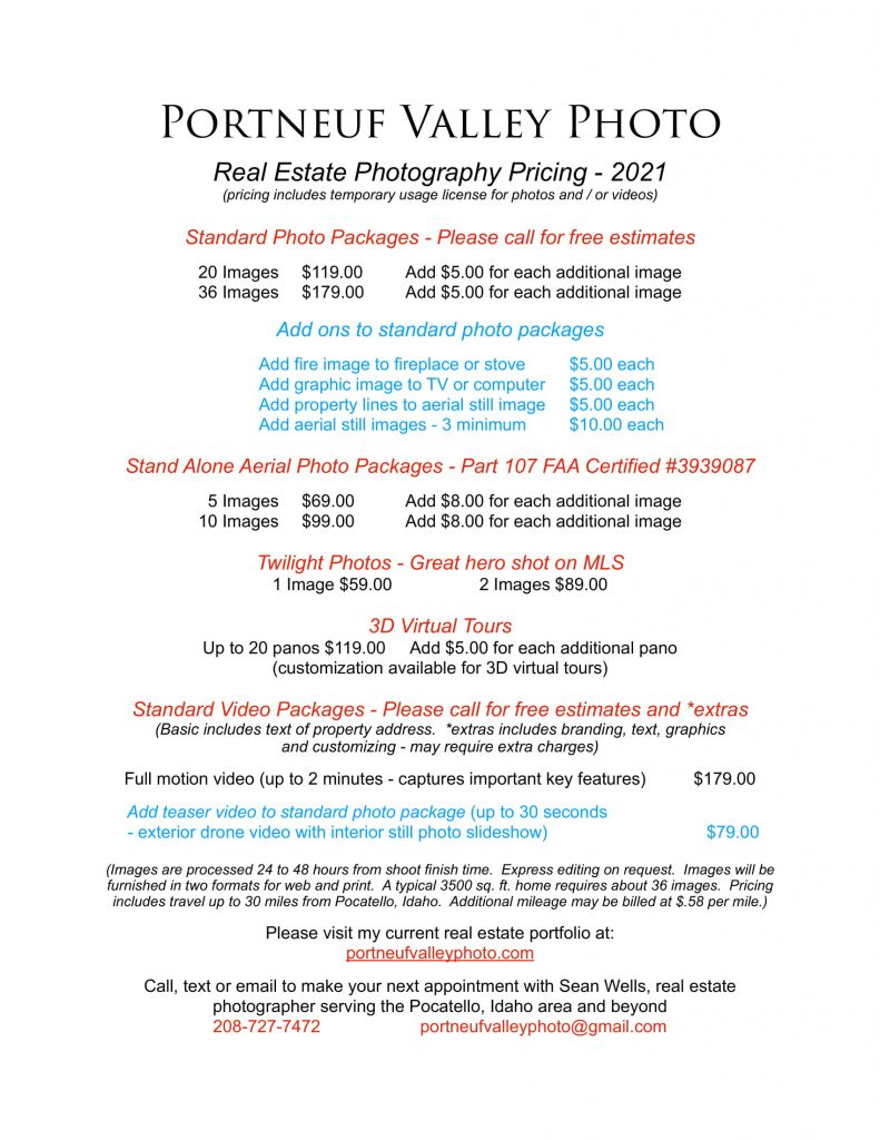 Portneuf Valley Photo Prices